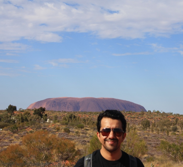 Uluru from one of the viewing points at the resort