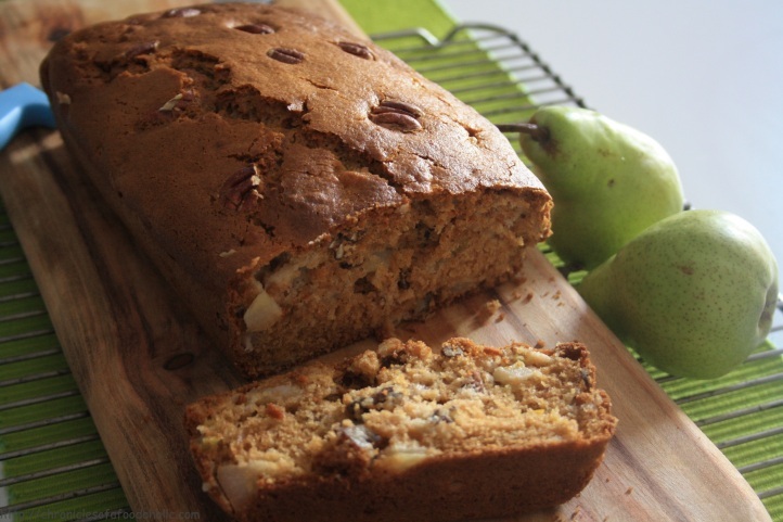 Spiced Pear & Pecan Bread